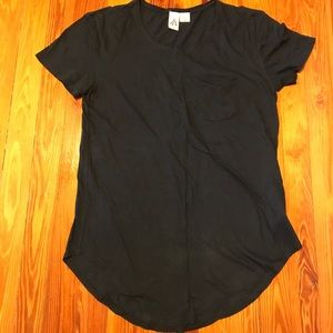 Urban Outfitters Black Scoop Shirt: Men's Small